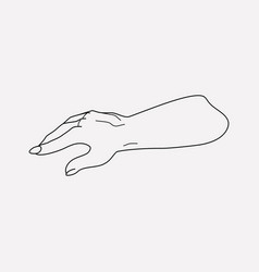 dead man hand icon line element vector image