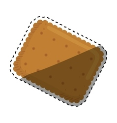 Delicious cookie Cartoon vector