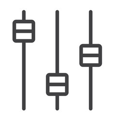 Equalizer line icon web and mobile audio sign vector