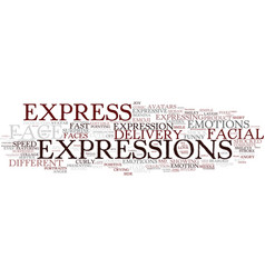 Express word cloud concept vector