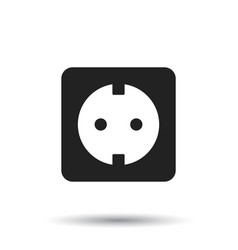 Extension cord icon electric power socket flat on vector
