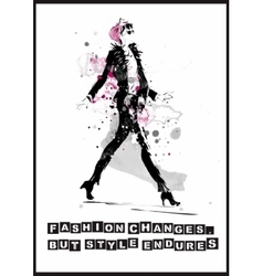 Fashion quote vector