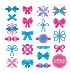 Flat Bows Collection vector image