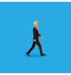 flat of businessman vector image