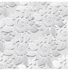 flower seamless pattern background with 3d vector image