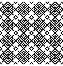 Geometric black and white ornament vector