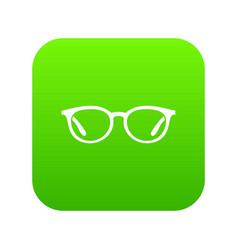 glasses icon digital green vector image