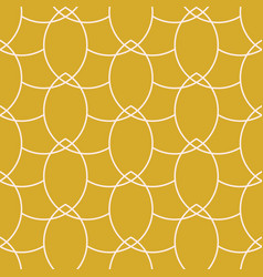 Gold chains geometric seamless pattern vector