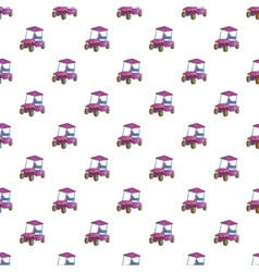 Golf car pattern cartoon style vector