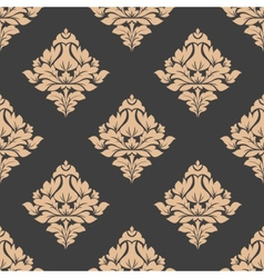 Grey and beige seamless pattern vector