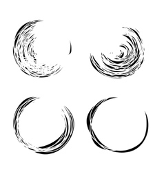 Grunge circles set vector image