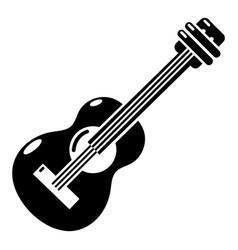 Guitar icon simple black style vector