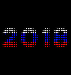halftone russian 2018 year text icon vector image