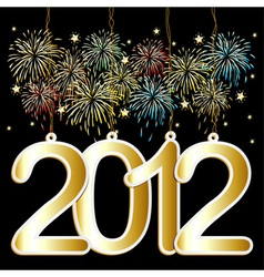 happy new year tags vector image