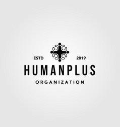 human people plus family health care group logo vector image