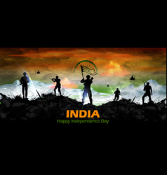 Indian army soilder nation hero on pride india vector