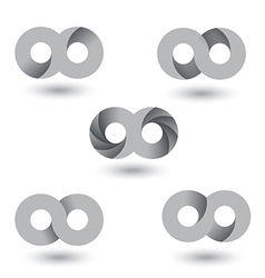 Infinity symbol vs vector