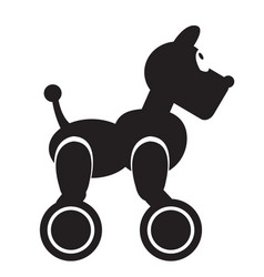 isolated robot dog toy icon vector image
