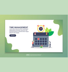 landing page template time management modern vector image