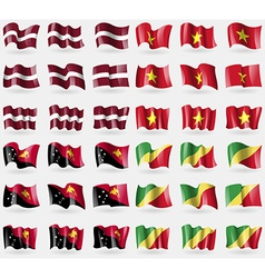 Latvia Vietnam Papua New Guinea Congo Republic Set vector