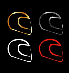Logo for motorsports in different effects vector
