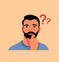 Man in ask flat design vector