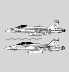 mcdonnell douglas f-18 hornet vector image