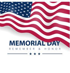 memorial day hero veteran united states vector image