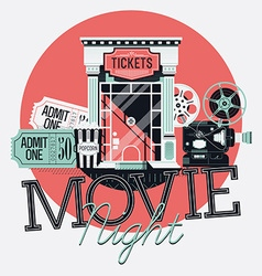 Movie Night Icon Set vector