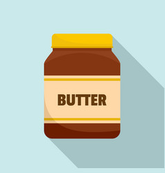peanut butter jar icon flat style vector image