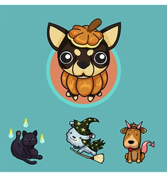 Pet Halloween SET1 vector image