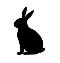 Rabbit silhouette in vector