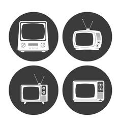 Retro television design vector
