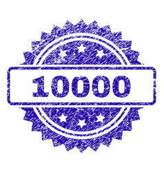 Scratched 10000 stamp seal vector