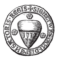 Seal of thurstan is the heraldic seal of the vector