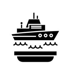 ship insurance black icon concept vector image