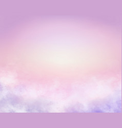 Sugar cotton pink clouds background vector