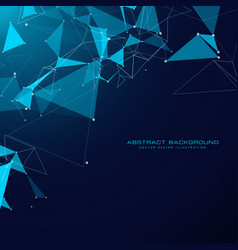technology background with triangle shapes and vector image