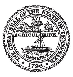 the great seal of the state of tennessee vintage vector image