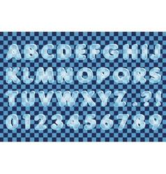 The Ice Alphabet vector image