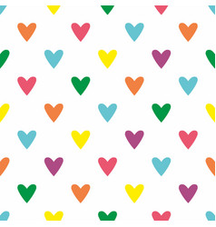 tile pattern with pastel hearts white background vector image