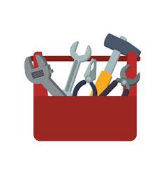 Toolbox carpentry portable vector