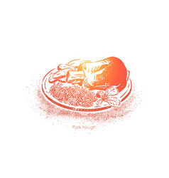 traditional german dish european cuisine fried vector image