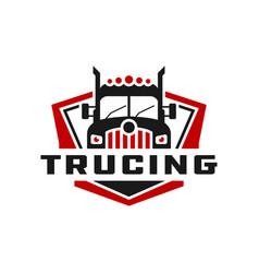 transport truck industry logo vector image