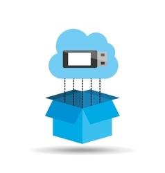 Usb cloud technology connection design vector