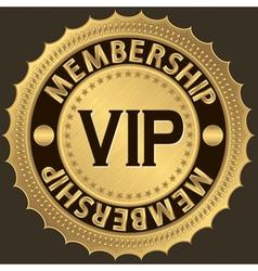 Vip membership golden label vector