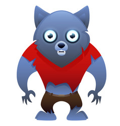 Werewolf cute cartoon character vector