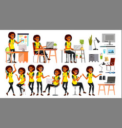 business african black woman character in vector image