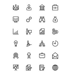 Business and Finance Line Icons 1 vector image vector image