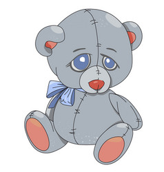 cartoon image of teddy bear vector image